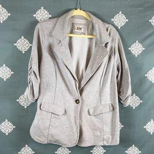 Heather Gray T-shirt Style Blazer Jacket